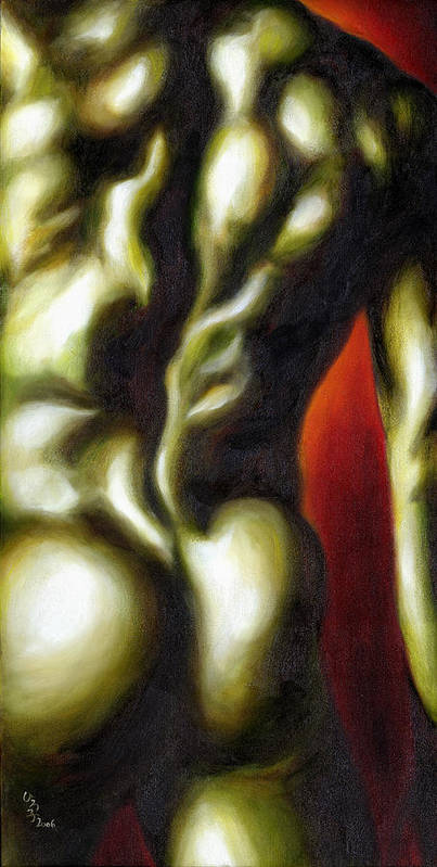 Man Nude Painting Poster featuring the painting Dancer Two by Hiroko Sakai