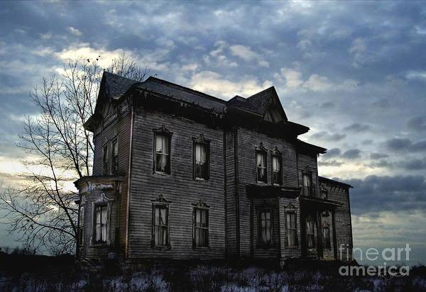 Old House Poster featuring the digital art Dark Ruttle County by Tom Straub