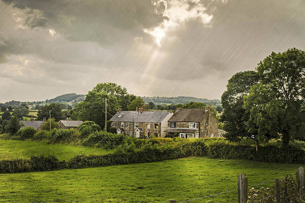 Cottage Poster featuring the photograph Derbyshire Cottages by Amanda And Christopher Elwell