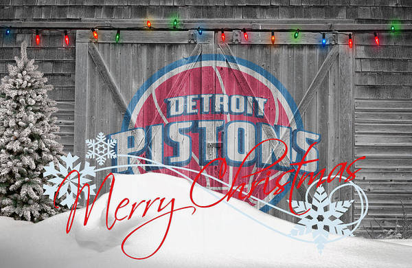 Pistons Poster featuring the photograph Detroit Pistons by Joe Hamilton