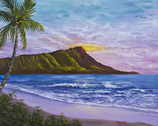Hawaii Poster featuring the painting Diamond Head by Darice Machel McGuire