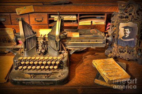 Doctors Office Poster featuring the photograph Doctor - The Physician's Desk by Lee Dos Santos