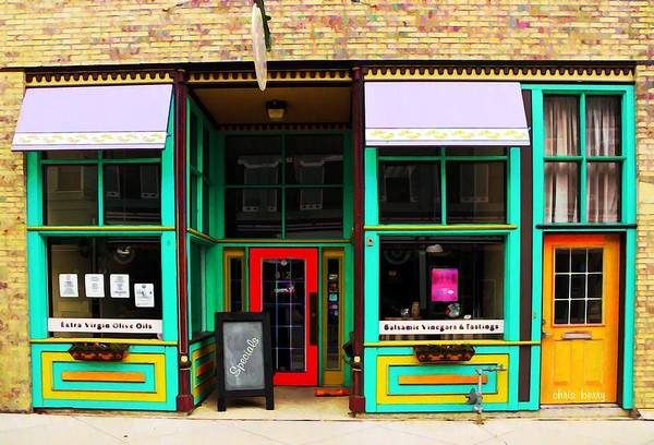 Quaint Poster featuring the photograph E V O O Store by Chris Berry