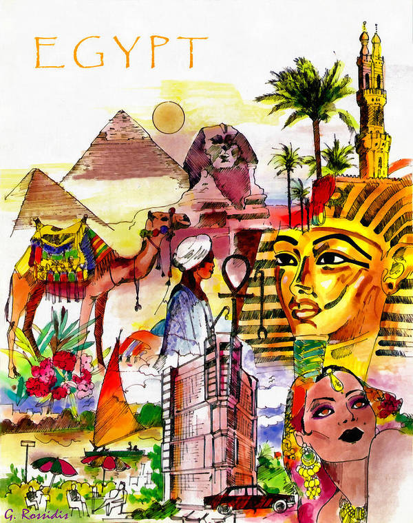 Rossidis Poster featuring the painting Egypt by George Rossidis