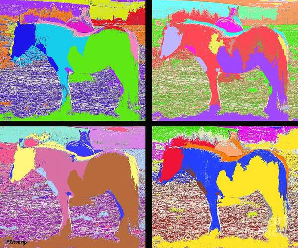 Horses.ponies Poster featuring the photograph Eight Horses by Patrick J Murphy