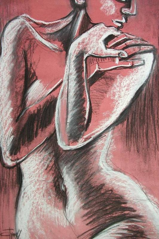 Original Poster featuring the painting Elegant Pink - Nudes Gallery by Carmen Tyrrell