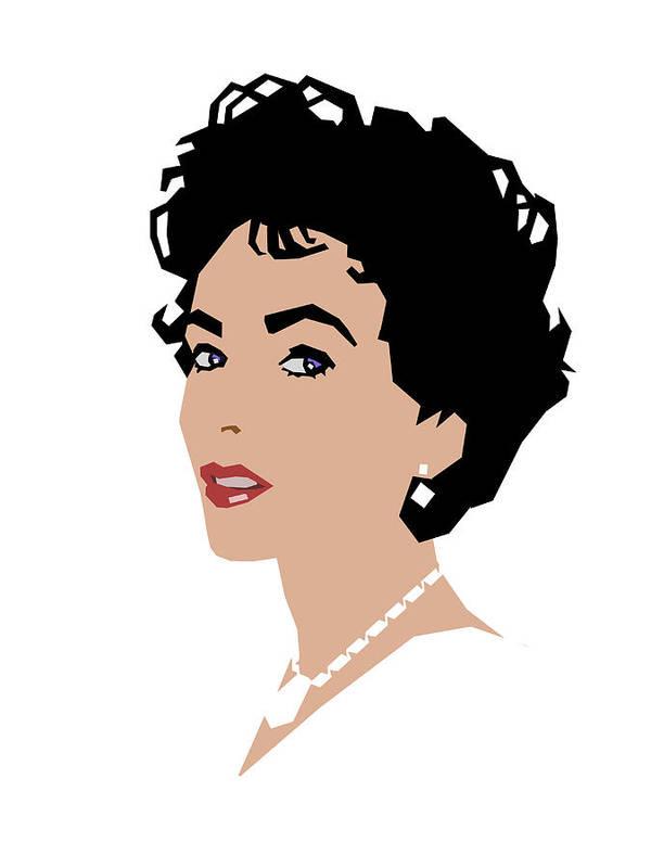 Elizabeth Taylor Poster featuring the digital art Elizabeth by Douglas Simonson