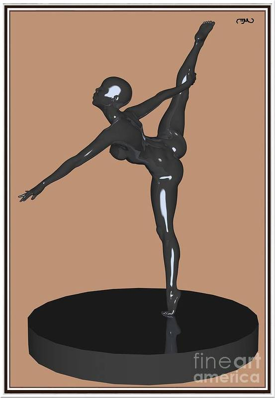 Modern Painting Poster featuring the painting erotic acrobatics 12EA 1 by Pemaro