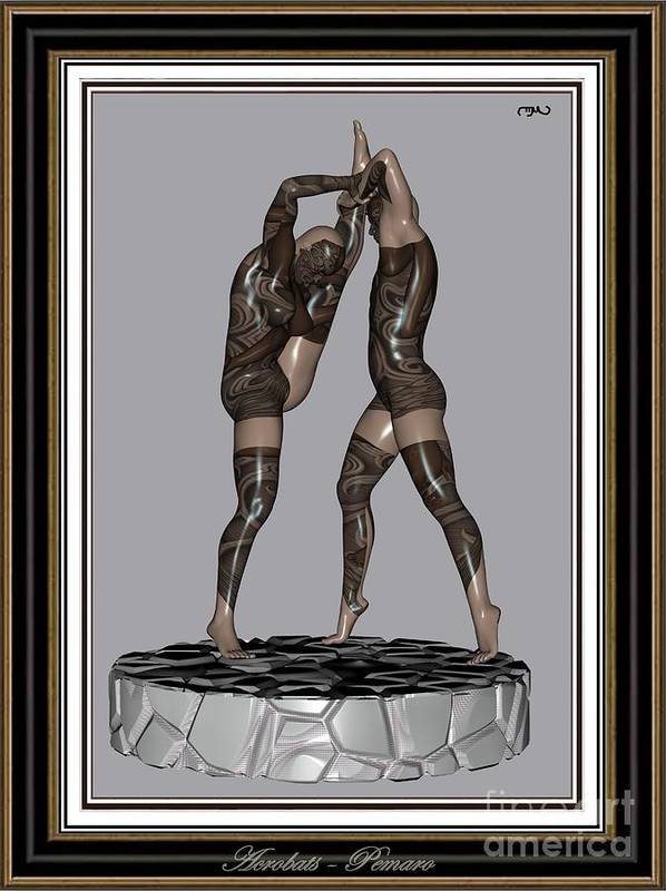 Modern Painting Poster featuring the painting erotic acrobatics 2EA 2 by Pemaro