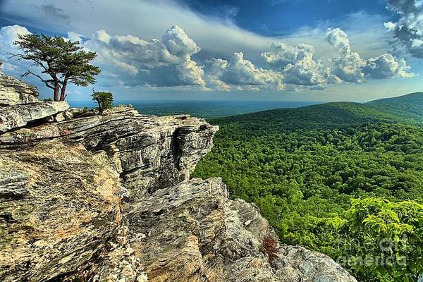 Hanging Rock State Park Poster featuring the photograph Face In The Cliff by Adam Jewell
