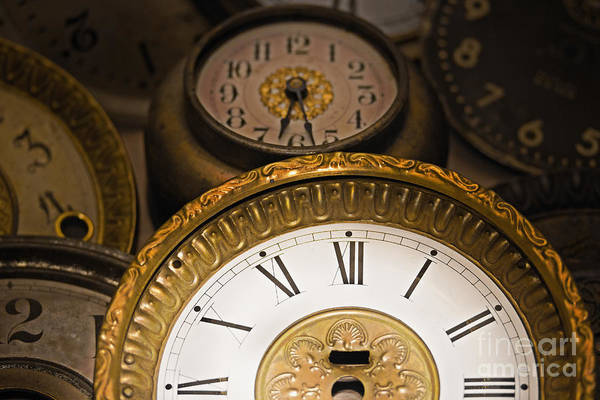 Clock Poster featuring the photograph Face Of Time by Tom Gari Gallery-Three-Photography