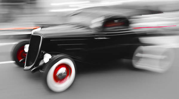 Fast Hot Rod Poster featuring the photograph Fast Ford Hot Rod by Phil 'motography' Clark