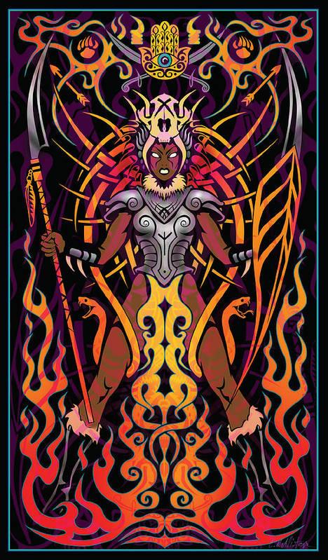 Warrior Poster featuring the digital art Fierce by Cristina McAllister