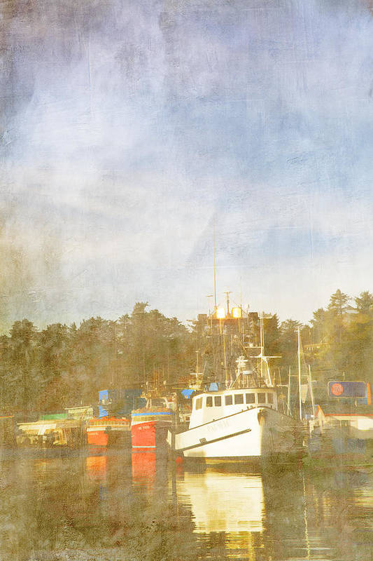 Fishing Poster featuring the photograph Fishing Boats Newport Oregon by Carol Leigh