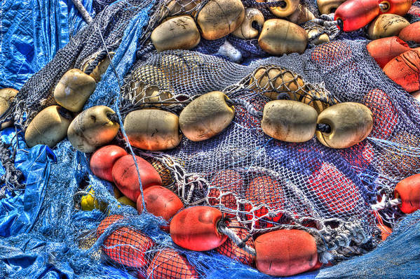 Abstract Poster featuring the photograph Fishing Gear by Heidi Smith