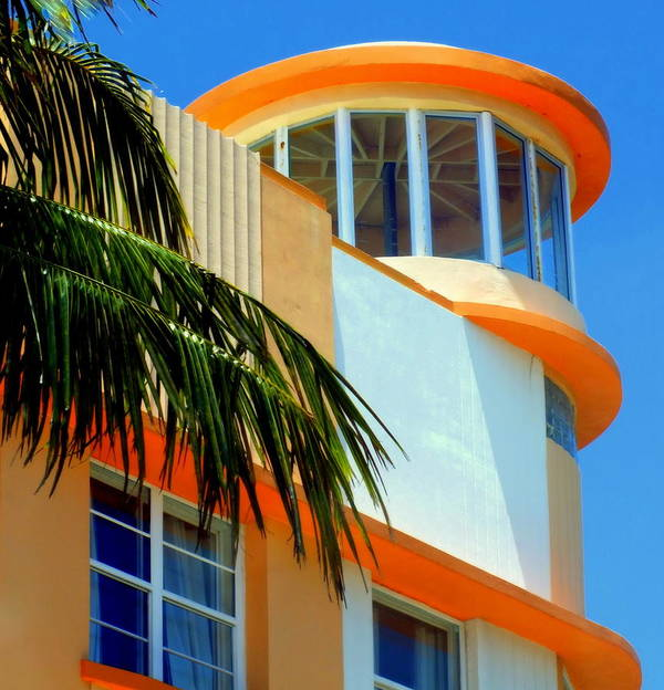 Art Deco Poster featuring the photograph Flavour Of Miami by Karen Wiles