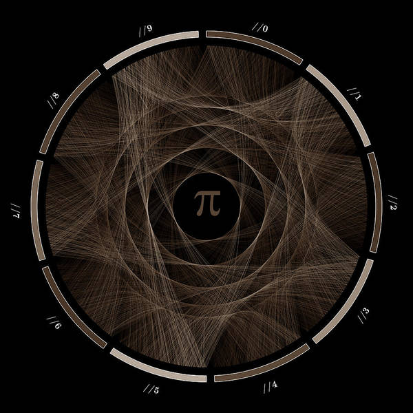 Pi Poster featuring the digital art Flow Of Life Flow Of Pi #2 by Cristian Vasile