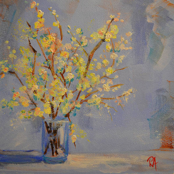 Art Poster featuring the painting Flower Arrangement Exotic by Patricia Awapara