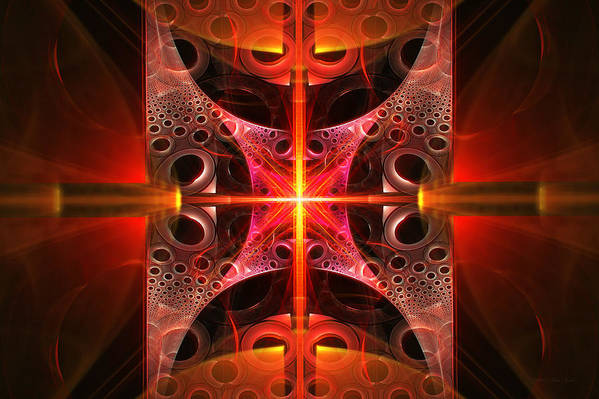 Abstract Poster featuring the photograph Fractal - Science - Cold Fusion by Mike Savad