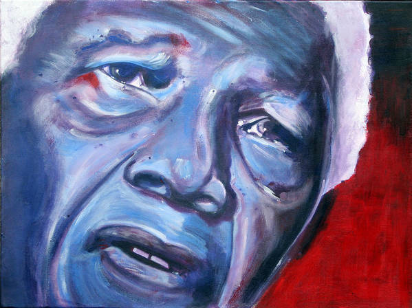 Nelso Mandela Poster featuring the painting Freedom - Nelson Mandela by Fiona Jack