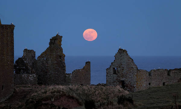Castle Poster featuring the photograph Full Moon Rising by Brian Grzelewski