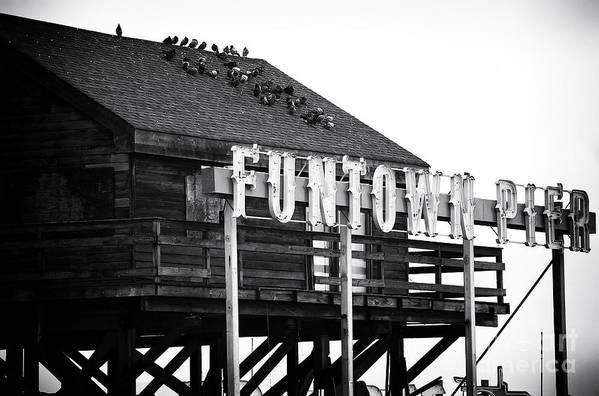 Funtown Pier Poster featuring the photograph Funtown Pier by John Rizzuto