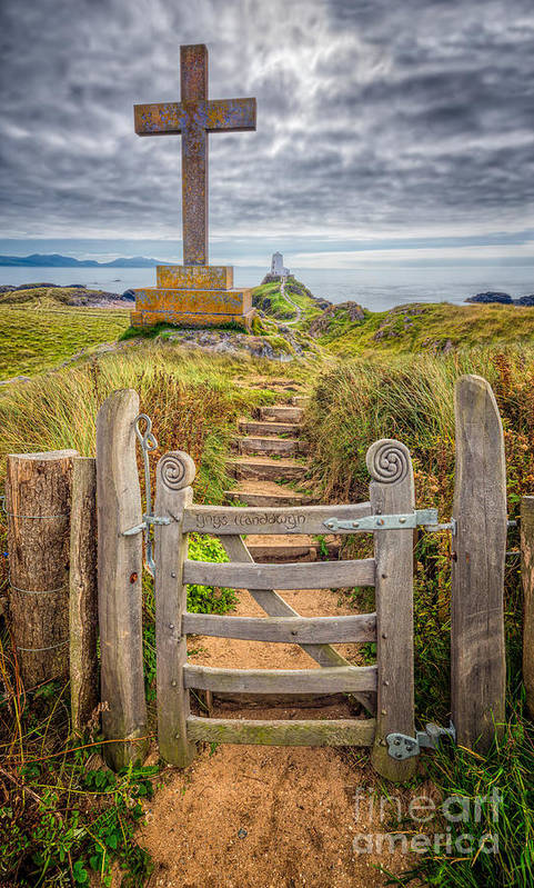 Gate Poster featuring the photograph Gate To Holy Island by Adrian Evans