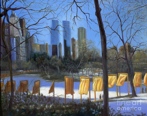 Landscape Poster featuring the painting Gates Of New York by Marlene Book