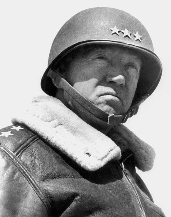 General Patton Poster featuring the photograph General George Patton by War Is Hell Store