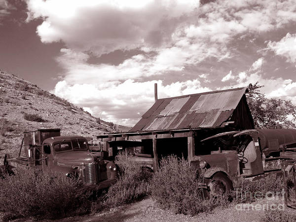 Landscape Poster featuring the photograph Gold King Mine Near Jerome by Alex Cassels