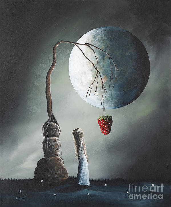 Gothic Poster featuring the painting Gothic Fantasy Art By Shawna Erback So Tempting by Shawna Erback