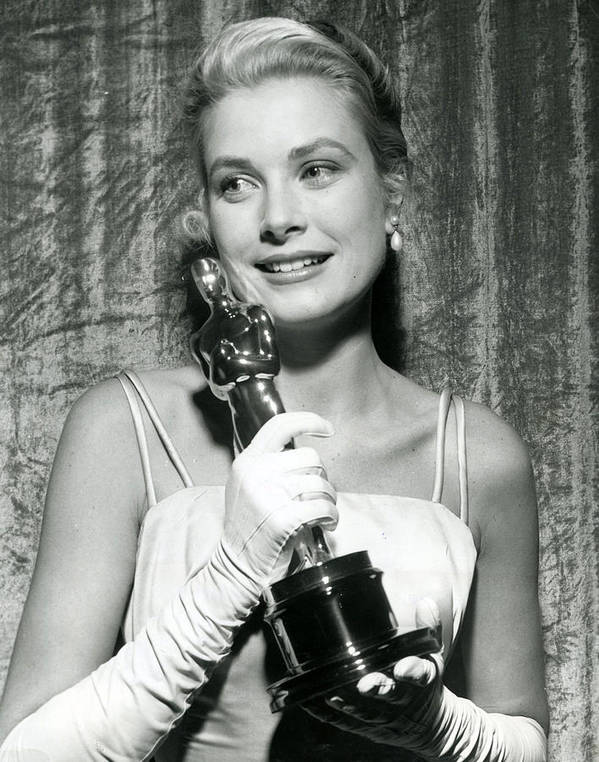 Retro Images Archive Poster featuring the photograph Grace Kelly At Awards Show by Retro Images Archive