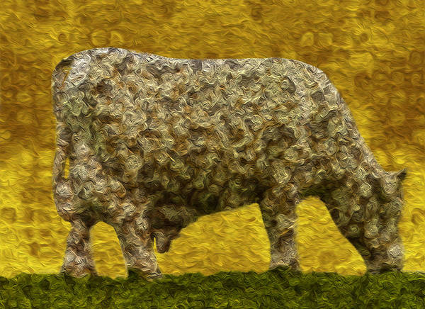 Digital Poster featuring the painting Grazing 2 by Jack Zulli