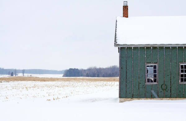 Door County Poster featuring the photograph Green Shed by Ty Helbach