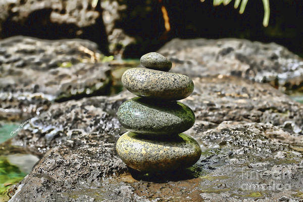 Conical Rock Piles Poster featuring the photograph Harmony by Cheryl Young
