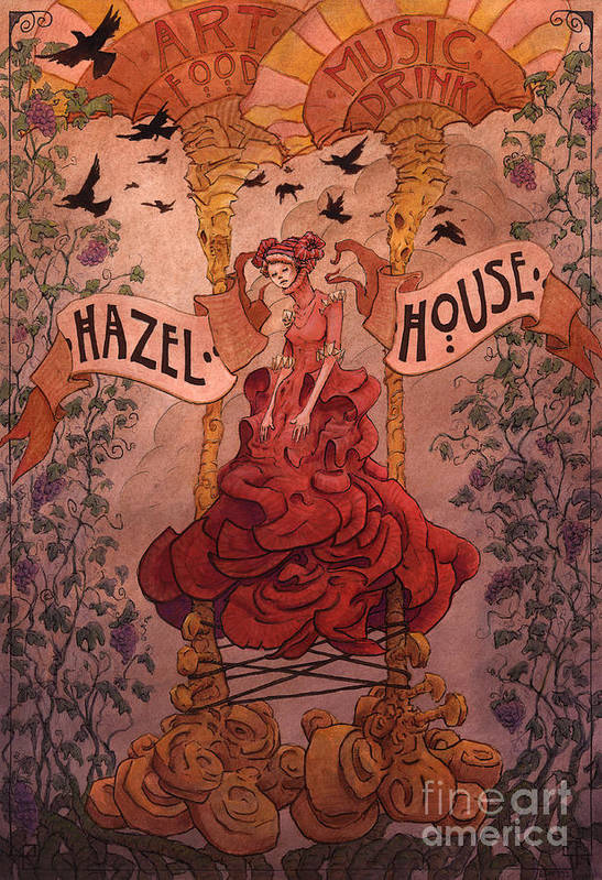 Woman Poster featuring the painting Hazel House by Ethan Harris