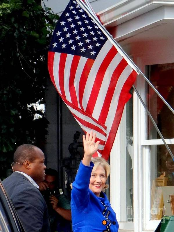 Hillary Clinton Poster featuring the photograph Hillary Clinton by Ed Weidman