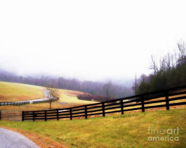 Lost In Thought Poster featuring the digital art Horse Farm In Rocky Mt Va by Angelia Hodges Clay