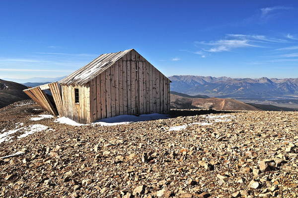 Colorado Poster featuring the photograph Horseshoe Mountain Mining Shack by Aaron Spong