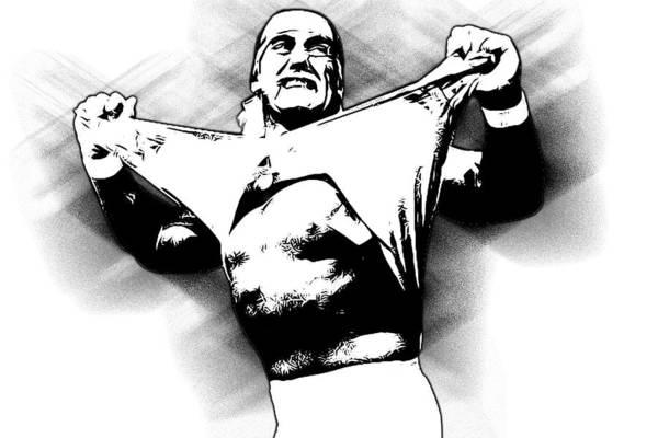 Hulk Hogan Poster featuring the digital art Hulk Hogan By Gbs by Anibal Diaz