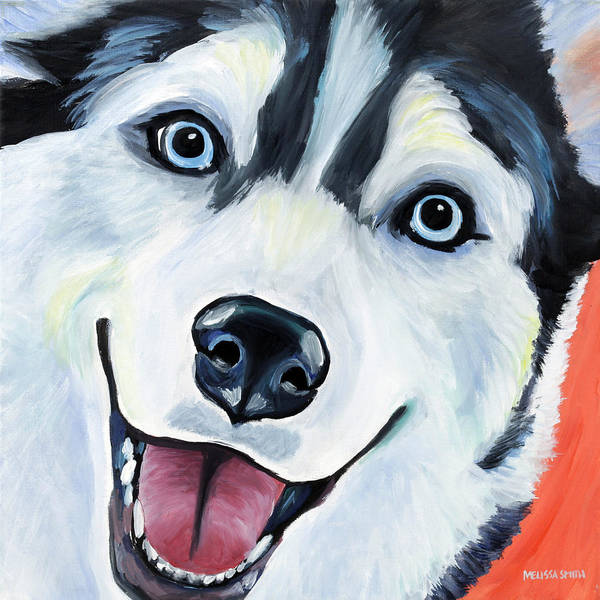 Siberian Husky Poster featuring the painting Husky by Melissa Smith