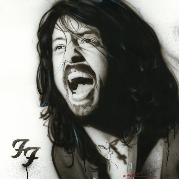 Dave Grohl Poster featuring the painting 'if Everything Could Ever Feel This Real Forever' by Christian Chapman Art