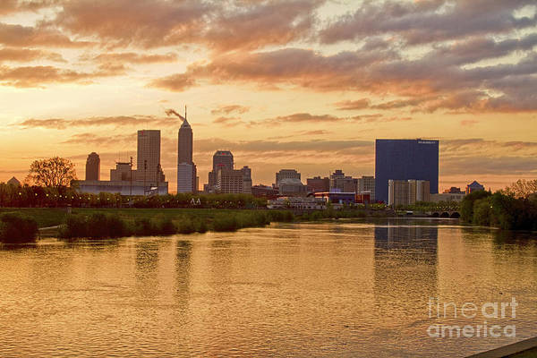Landscape Poster featuring the photograph Indianapolis Sunrise by David Haskett