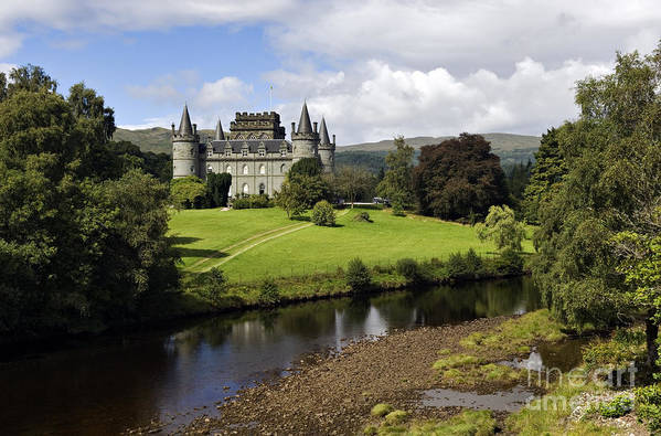 Scottish Poster featuring the photograph Inveraray Castle - D002464 by Daniel Dempster