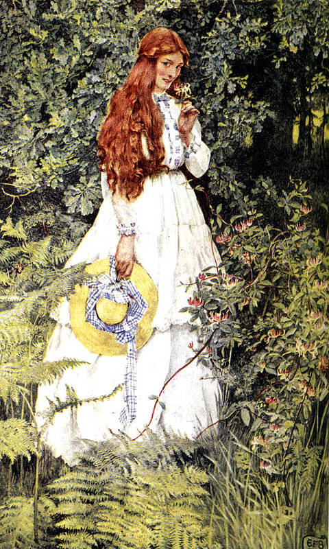 Eleanor Fortescue Brickdale Poster featuring the digital art Is She Not Pure Gold My Mistress by Eleanor Fortescue Brickdale