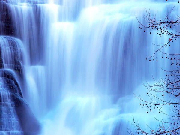 Ithaca Poster featuring the photograph Ithaca Water Falls New York by Paul Ge