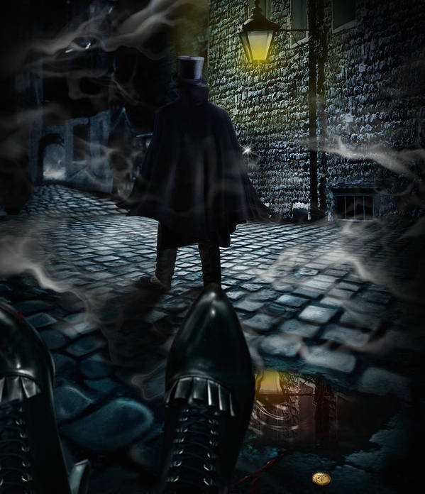 Top Hat Poster featuring the digital art Jack The Ripper by Alessandro Della Pietra