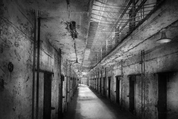 Jail Poster featuring the photograph Jail - Eastern State Penitentiary - The Forgotten Ones by Mike Savad