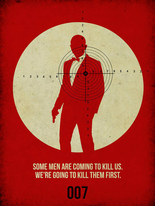 James Bond Poster featuring the photograph James Poster Red 3 by Naxart Studio