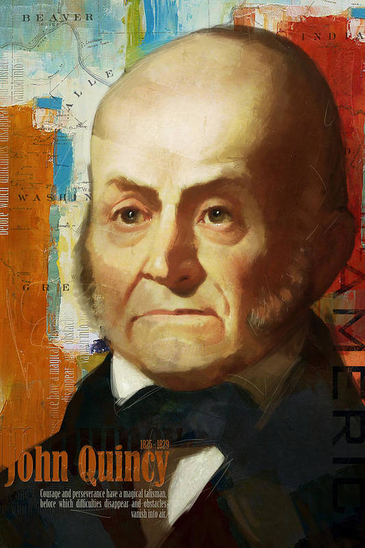 John Quincy Poster featuring the painting John Quincy Adams by Corporate Art Task Force